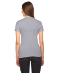 Slate MADE IN USA Ladies' Fine Jersey Short-Sleeve T-Shirt as seen from the back