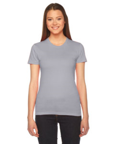 Slate MADE IN USA Ladies' Fine Jersey Short-Sleeve T-Shirt as seen from the front
