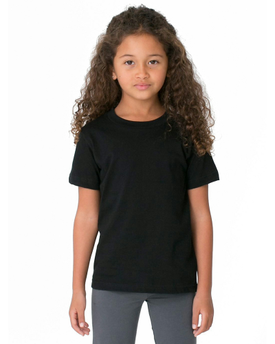 Black MADE IN USA Toddler Fine Jersey Short-Sleeve T-Shirt as seen from the front