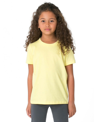 Lemon MADE IN USA Toddler Fine Jersey Short-Sleeve T-Shirt as seen from the front