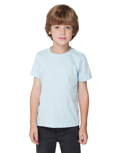 Light Blue MADE IN USA Toddler Fine Jersey Short-Sleeve T-Shirt as seen from the front