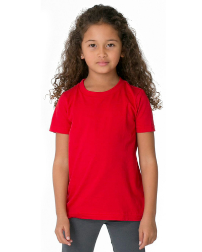 Red MADE IN USA Toddler Fine Jersey Short-Sleeve T-Shirt as seen from the front