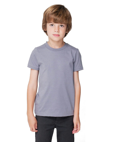 Slate MADE IN USA Toddler Fine Jersey Short-Sleeve T-Shirt as seen from the front