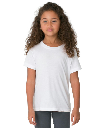 White MADE IN USA Toddler Fine Jersey Short-Sleeve T-Shirt as seen from the front