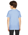 Baby Blue MADE IN USA Youth Fine Jersey Short-Sleeve T-Shirt as seen from the back