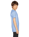 Baby Blue MADE IN USA Youth Fine Jersey Short-Sleeve T-Shirt as seen from the sleeveleft