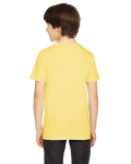 Lemon MADE IN USA Youth Fine Jersey Short-Sleeve T-Shirt as seen from the back