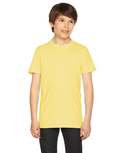 Lemon MADE IN USA Youth Fine Jersey Short-Sleeve T-Shirt as seen from the front