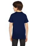 Navy MADE IN USA Youth Fine Jersey Short-Sleeve T-Shirt as seen from the back