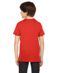 Orange MADE IN USA Youth Fine Jersey Short-Sleeve T-Shirt as seen from the back