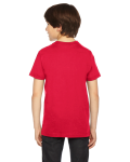 Red MADE IN USA Youth Fine Jersey Short-Sleeve T-Shirt as seen from the back
