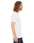 White MADE IN USA Unisex Fine Jersey Pocket Short-Sleeve T-Shirt as seen from the sleeveleft
