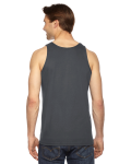 Asphalt MADE IN USA Unisex Fine Jersey Tank as seen from the back