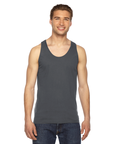 Asphalt MADE IN USA Unisex Fine Jersey Tank as seen from the front