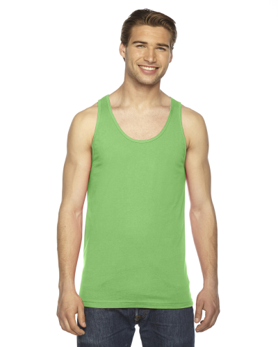 Grass MADE IN USA Unisex Fine Jersey Tank as seen from the front