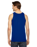 Lapis MADE IN USA Unisex Fine Jersey Tank as seen from the back