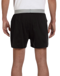 Black Knit Boxer Short as seen from the back
