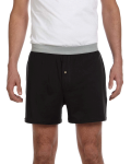 Black Knit Boxer Short as seen from the front