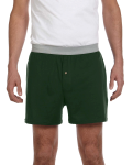 Hunter Green Knit Boxer Short as seen from the front