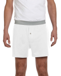 White Knit Boxer Short as seen from the front