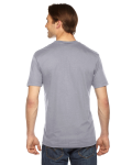 Slate MADE IN USA Unisex Fine Jersey Short-Sleeve V-Neck as seen from the back