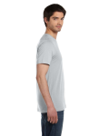 Silver Unisex 4.2 oz. V-Neck Jersey T-Shirt as seen from the sleeveleft