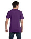 Team Purple Unisex 4.2 oz. V-Neck Jersey T-Shirt as seen from the back