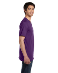 Team Purple Unisex 4.2 oz. V-Neck Jersey T-Shirt as seen from the sleeveleft
