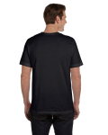Black Dp Hthr Men's Jersey Short-Sleeve Pocket T-Shirt as seen from the back