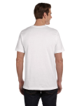 White Men's Jersey Short-Sleeve Pocket T-Shirt as seen from the back