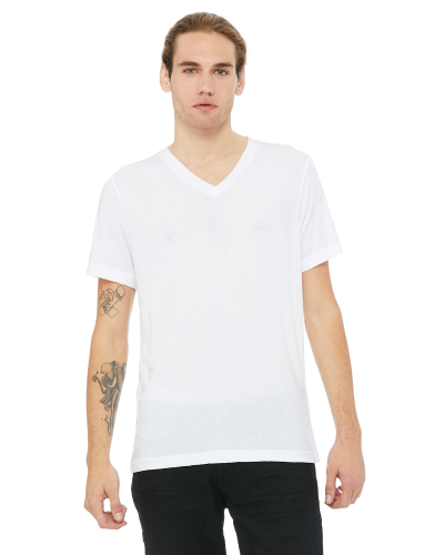 Unisex Triblend Short-Sleeve V-Neck T-Shirt