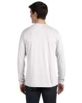 White Fleck Tribld Men's Jersey Long-Sleeve V-Neck T-Shirt as seen from the back