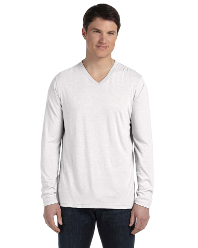 Men's Jersey Long-Sleeve V-Neck T-Shirt