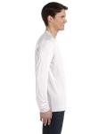 White Fleck Tribld Men's Jersey Long-Sleeve V-Neck T-Shirt as seen from the sleeveleft