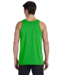 Neon Green Unisex Jersey Tank as seen from the back