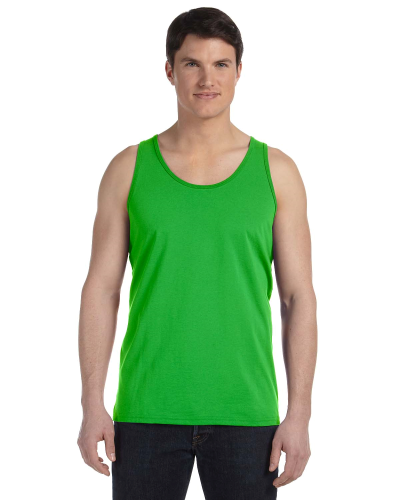 Neon Green Unisex Jersey Tank as seen from the front