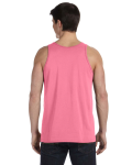 Neon Pink Unisex Jersey Tank as seen from the back