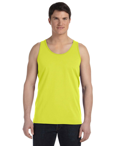 Neon Yellow Unisex Jersey Tank as seen from the front