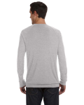 Athletic Heather Unisex Lightweight Sweater as seen from the back