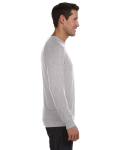 Athletic Heather Unisex Lightweight Sweater as seen from the sleeveleft