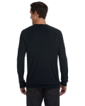 Black Unisex Lightweight Sweater as seen from the back