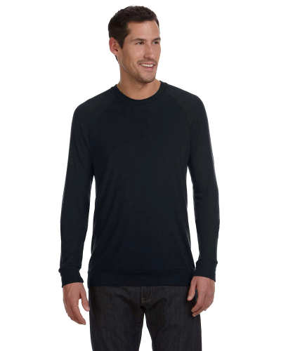 Black Unisex Lightweight Sweater as seen from the front