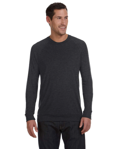 Dk Grey Heather Unisex Lightweight Sweater as seen from the front