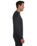 Dk Grey Heather Unisex Lightweight Sweater as seen from the sleeveleft