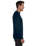 Midnight Unisex Lightweight Sweater as seen from the sleeveleft