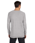 Athletic Heather Unisex V-Neck Lightweight Sweater as seen from the back