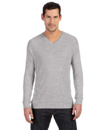 Athletic Heather Unisex V-Neck Lightweight Sweater as seen from the front