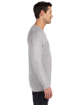 Athletic Heather Unisex V-Neck Lightweight Sweater as seen from the sleeveleft