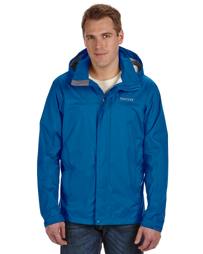 Blue Sapphire Men's PreCip Jacket as seen from the front