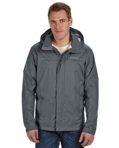 Slate Grey Men's PreCip Jacket as seen from the front